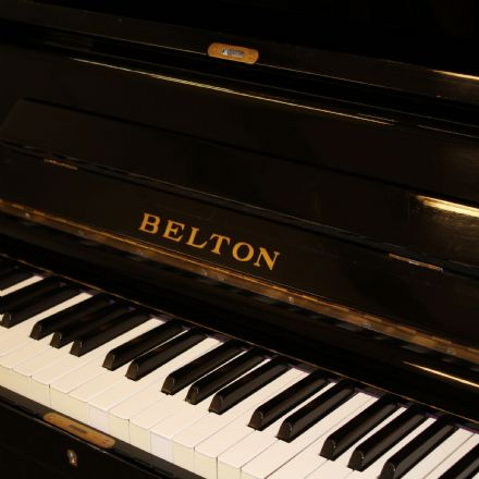 Belton 130cm Traditional Upright Piano Black c1960